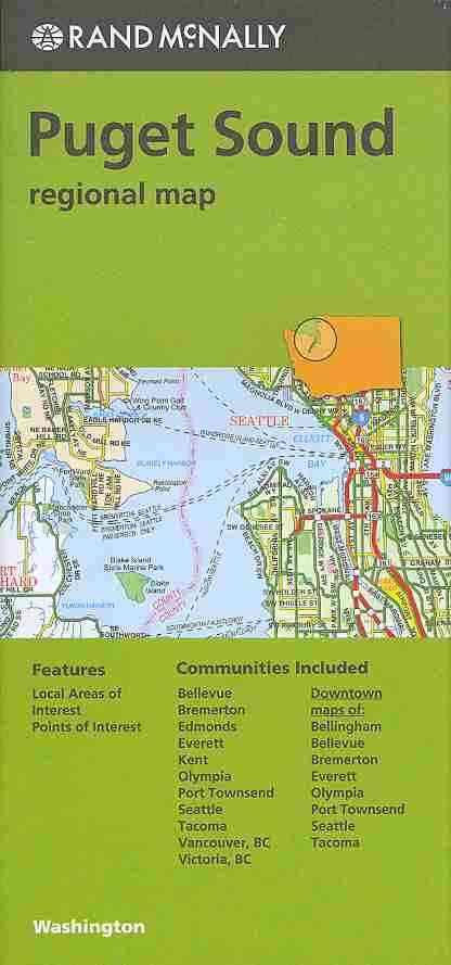 Rand Mcnally Puget Sound Washington Regional Map By Rand McNally and Company (COR)